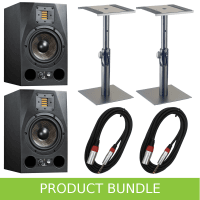 "Adam Audio A7X 7"" Studio Monitors with Desktop Stands & Cables"