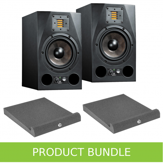 "Adam Audio A7X 7"" Studio Monitors with Isolation Pads Bundle"
