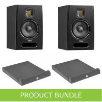 "Adam Audio F5 5.5"" Studio Monitors with Isolation Pads Bundle"