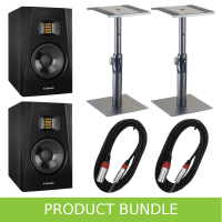 "Adam Audio T5V 5"" Studio Monitors with Desktop Stands & Cables"