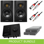 Adam Audio T5V (Pair) with Komplete Audio 2 Interface, Iso Pads & Leads