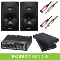 Adam Audio T5V (PAIR) with Steinberg UR22C Interface, Iso Pads & Leads