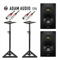 "Adam Audio T7V 7"" Stands & Cable Bundle"