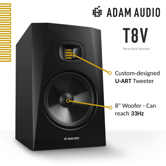 "Adam Audio T8V 8"" Active Studio Monitor (Single)"