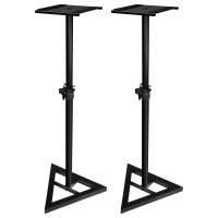 Adam Hall SKDB 039 V2 Adjustable Heavy Duty Speaker Stands (Pair) - B-STOCK