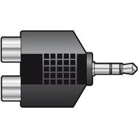 QTX Adaptor 3.5mm Stereo Plug to 2 x RCA Sockets