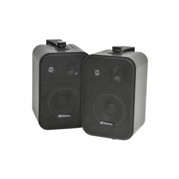 "Adastra 100V Line 4"" Black Wall Speakers - Pair"