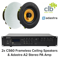 "Clever Little Box Adastra A2 Bluetooth Amplifier & 2x 6.5"" Ceiling Speakers"