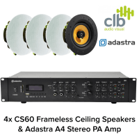 Inta Audio Adastra A4 Home Hi-Fi Sound System with Bluetooth - 4x Ceiling Speakers