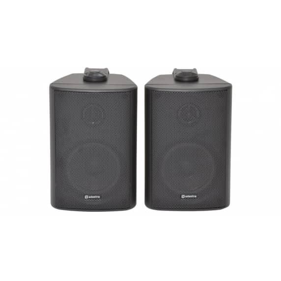 "Adastra BC5-B 5.25"" Black Background Wall Speakers - 8ohm"