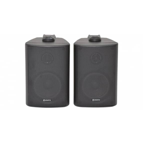 "Adastra BC6-B 6.5"" Black Background Wall Speakers - 8ohm"