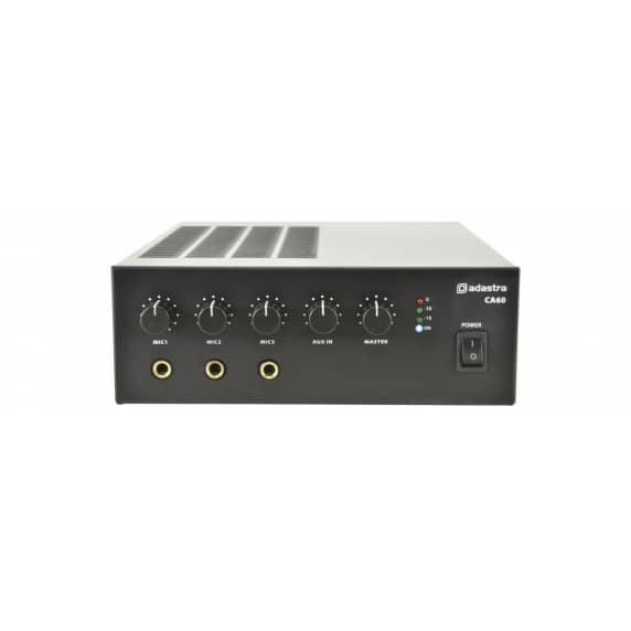 Adastra CA60 Compact 100V Mixer Amp 60w