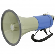Adastra L80R Heavy Duty Megaphone with Looper and clip on Microphone 25W