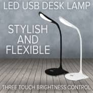 Adjustable LED Touch Sensor Dimmable Desk Lamp - Black