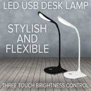 Adjustable LED Touch Sensor Dimmable Desk Lamp - White