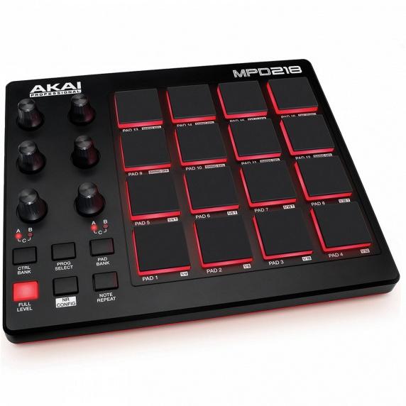 Akai MPD218 MIDI, USB Pad Controller