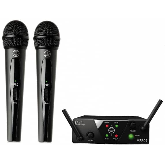 AKG WMS40 Mini Dual Wireless Mic Set - 864.375/864.350Mhz