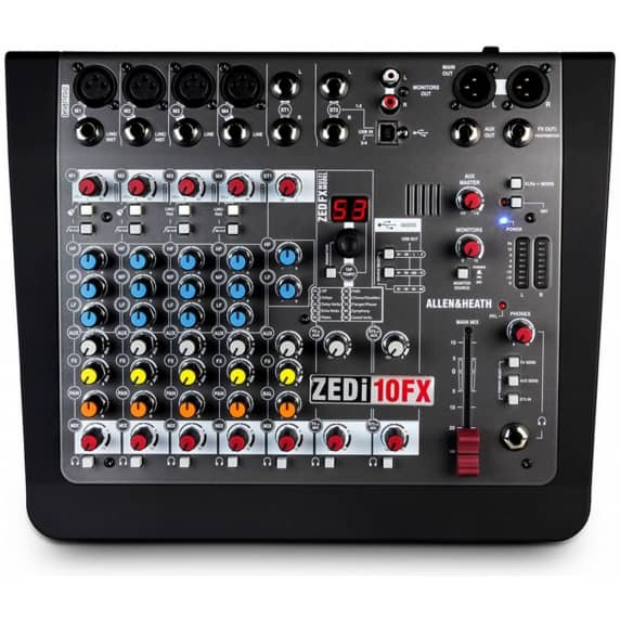 Allen & Heath ZEDi10FX Hybrid Compact Mixer & USB Interface