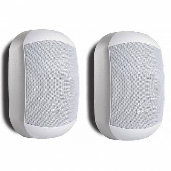 "Apart MASK6CT-W 6.5"" 100V/16Ohm Two-Way Loudspeaker, White (Pair)"
