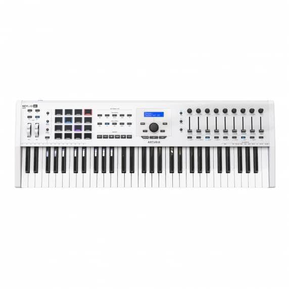 Arturia Keylab 61 MKII Controller Deluxe Keyboard - White