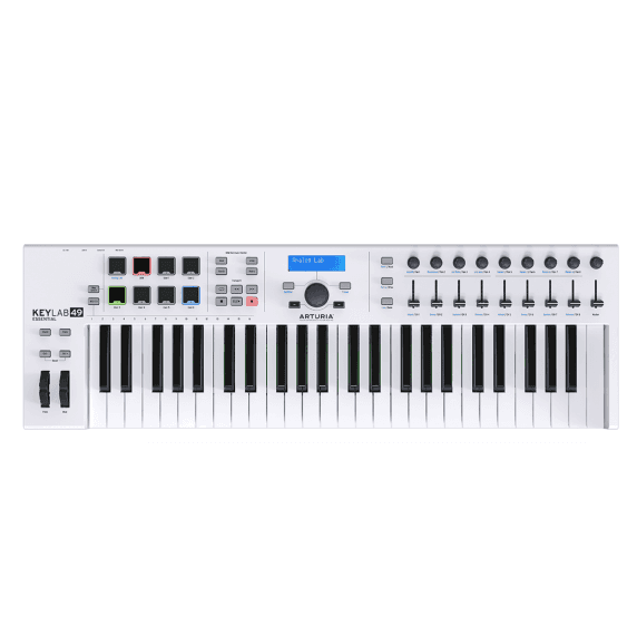 Arturia Keylab Essential 49-Key MIDI Keyboard - White
