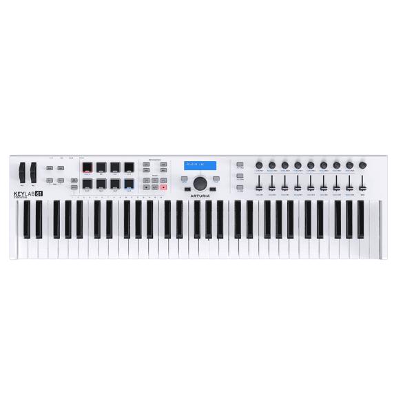 Arturia Keylab Essential 61-Key MIDI Keyboard - White