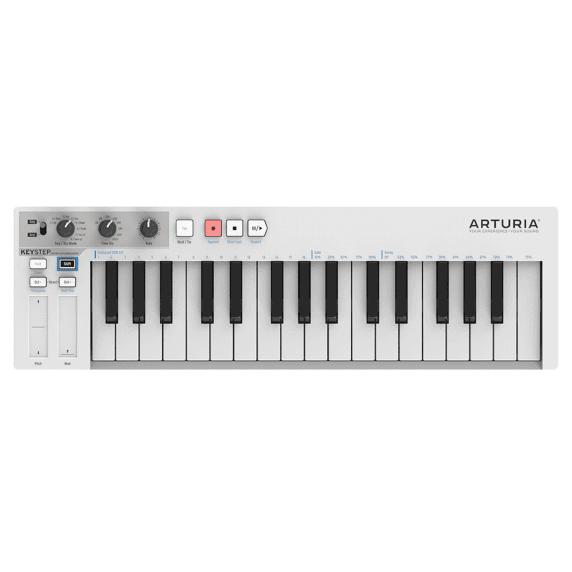 Arturia Keystep Portable USB MIDI Controller Keyboard - White