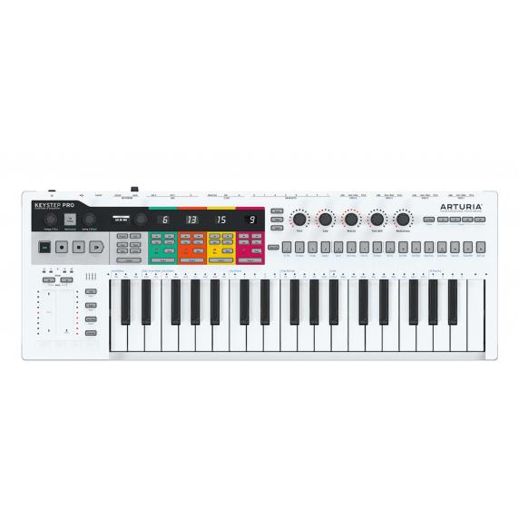 Arturia Keystep Pro 37 Key MIDI Keyboard - White
