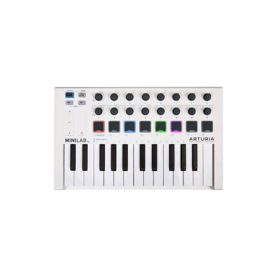 Arturia MiniLab MKII 25 Key Keyboard - White