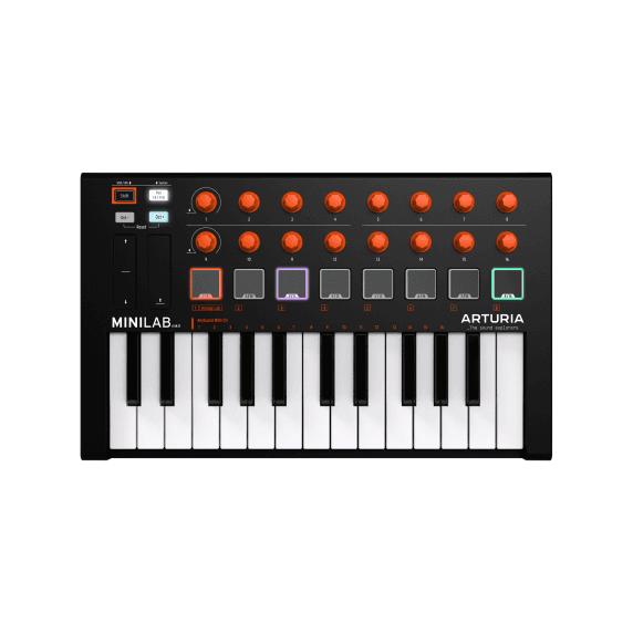 Arturia MiniLab MKII - Mini Studio 25 Key Keyboard Limited Orange Edition
