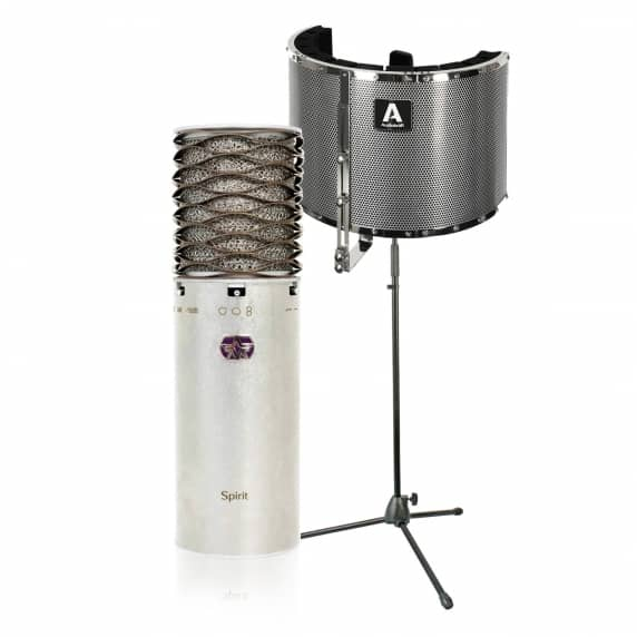 Aston Microphones Spirit Condenser Mic with Vocal Booth and Stand