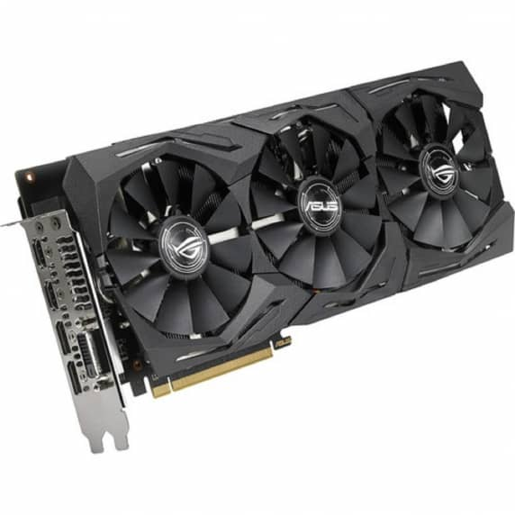 ASUS Strix RX580 8gb Dual Display-port, Dual HDMI & 1x DVI (Semi Fanless - Ultra Quiet Fan)