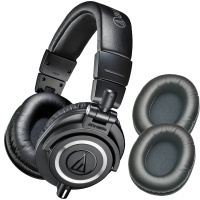 Audio Technica ATH-M50x Headphones & Ear Pad Bundle