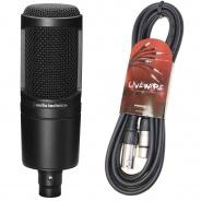 Audio Technica AT2020 Condenser Mic & Pro XLR lead (refurbished)