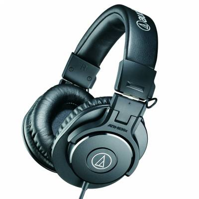 audio technica ath m30x professional headphones black audio technica from inta audio uk. Black Bedroom Furniture Sets. Home Design Ideas