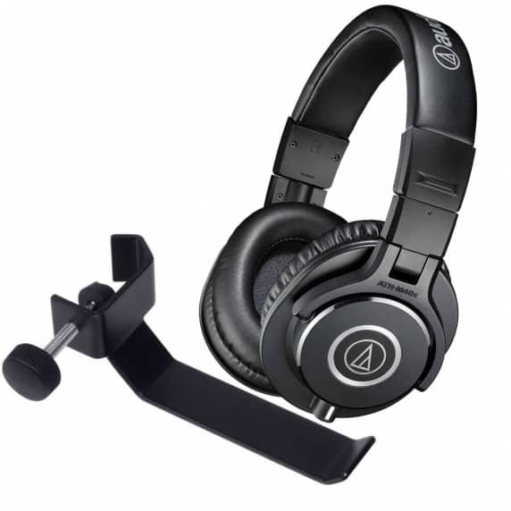 Audio Technica ATH-M40x Headphones & Headphone Holder