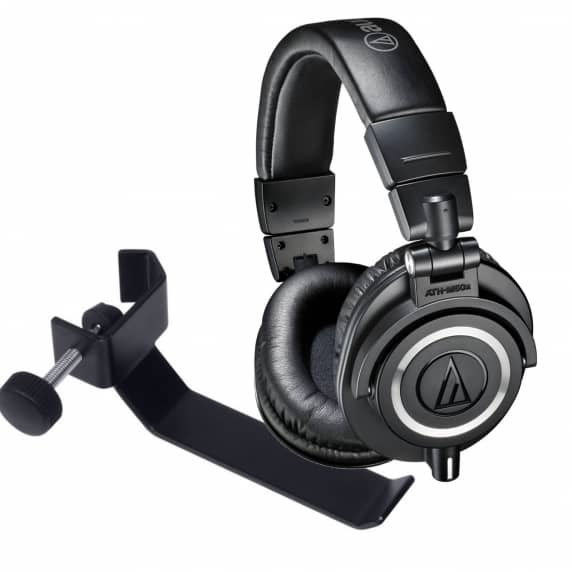 Audio-Technica ATH-M50x Headphones & Headphone Holder