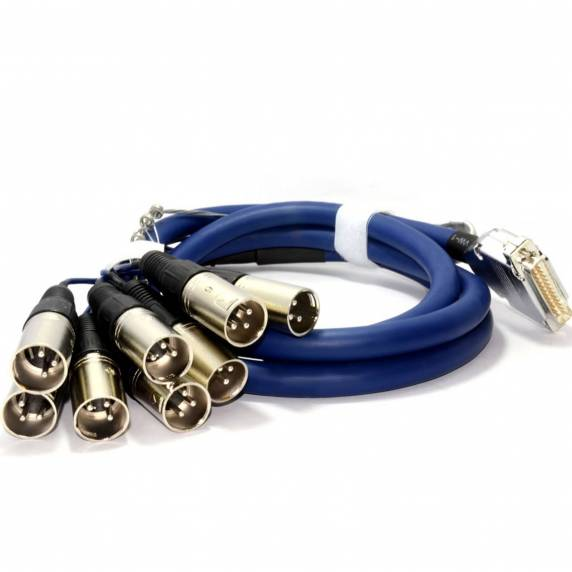 AudioKraft 25 Pin D-Sub - XLR Plug - 2m Blue