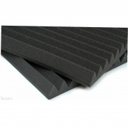 Auralex Acoustic Foam Wedges, box of 24 - Charcoal
