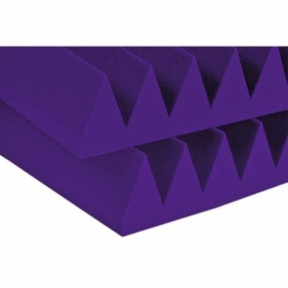 Auralex Purple Acoustic Foam Wedgies (24 Pack)