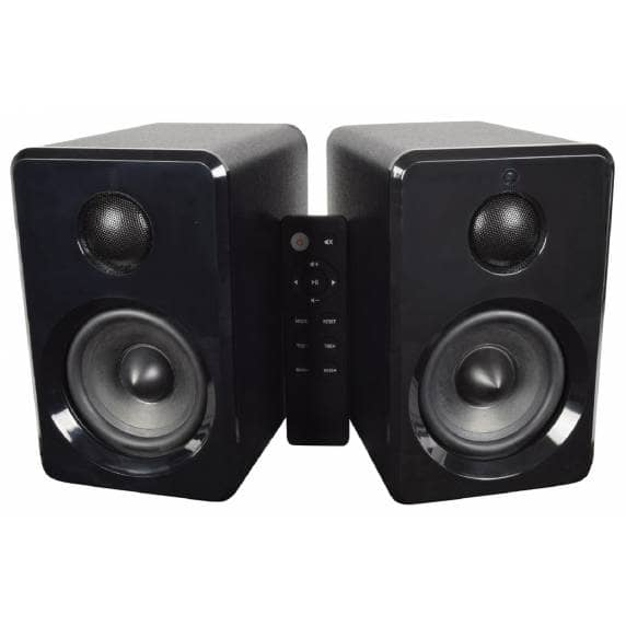 AV:Link Active Stereo Bookshelf Speakers with Bluetooth (Black)