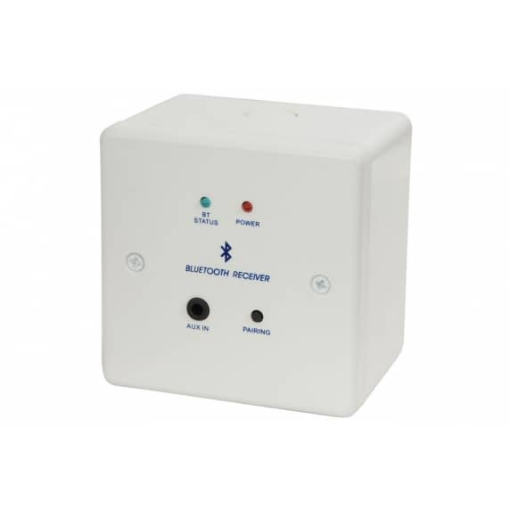 AV Link Bluetooth Receiver Wallplate and Backbox