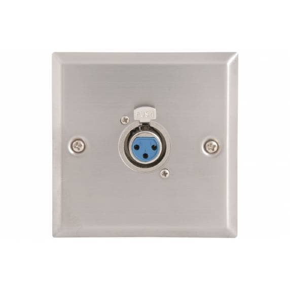 AV: Link Steel Wallplates with XLR Socket