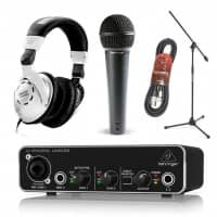 Behringer Beginner Music Recording and Production Bundle