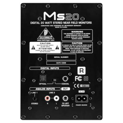 behringer ms20 studio monitors. Black Bedroom Furniture Sets. Home Design Ideas