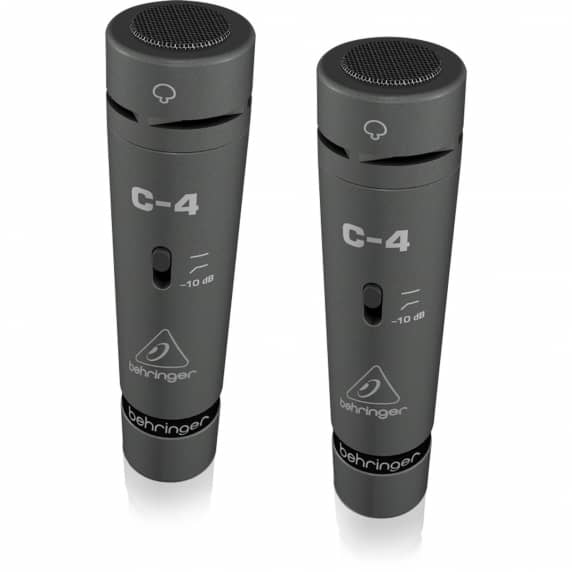 Behringer C-4 Single Diaphragm Condenser Microphones - Matched Pair