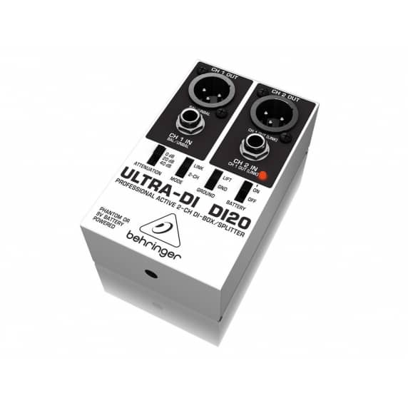 Behringer DI20 2-Channel DI-Box / Splitter - B Stock NO BOX