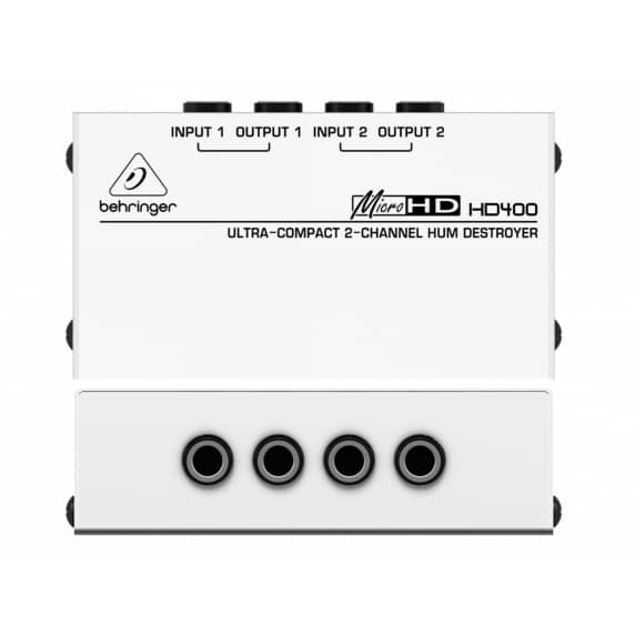 Behringer MICROHD HD400  Hum Destroyer Di Box - B Stock