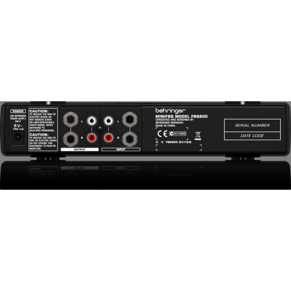 Behringer MINI FBQ800 Ultra-Compact Graphic EQ with FBQ