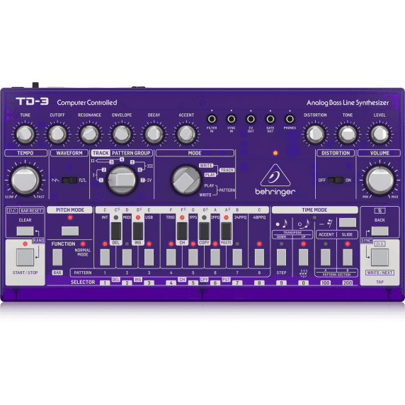 Behringer TD-3 Analog Bass Line Synthesizer - Purple